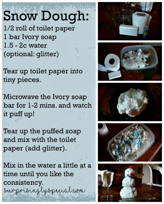 snow dough recipe