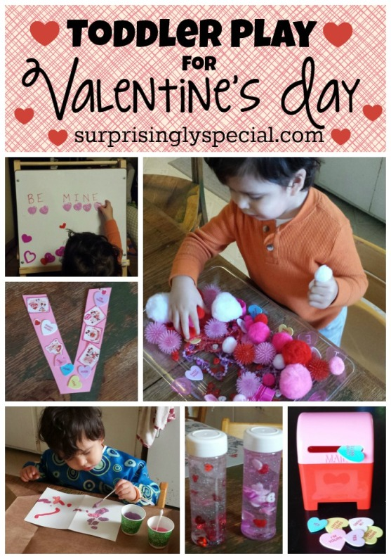 Toddler Play for Valentine's Day