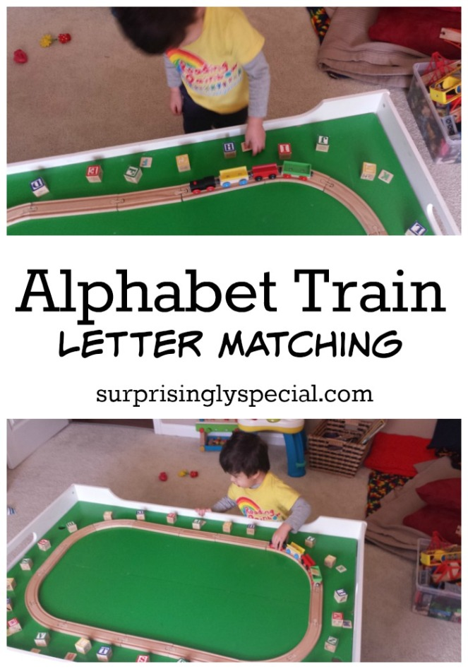 ABC train letter matching