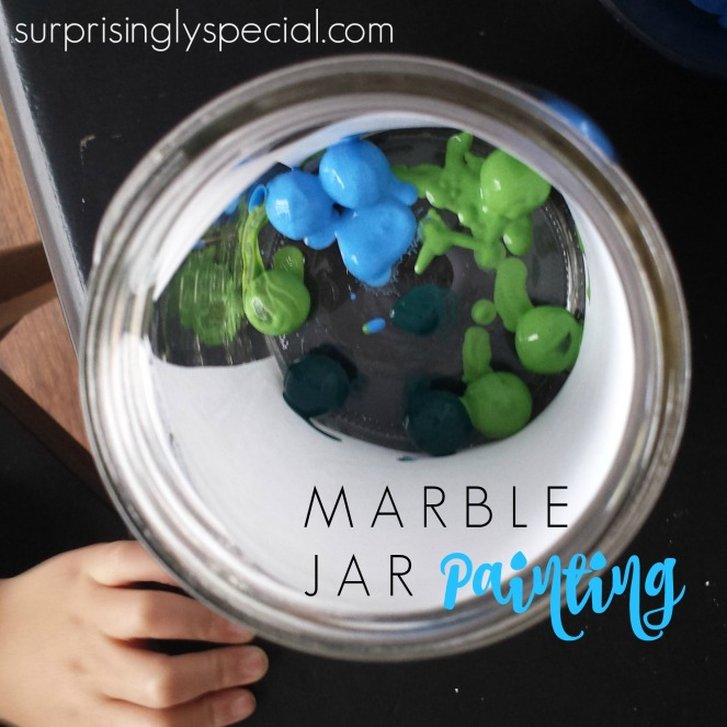 marble jar painting project