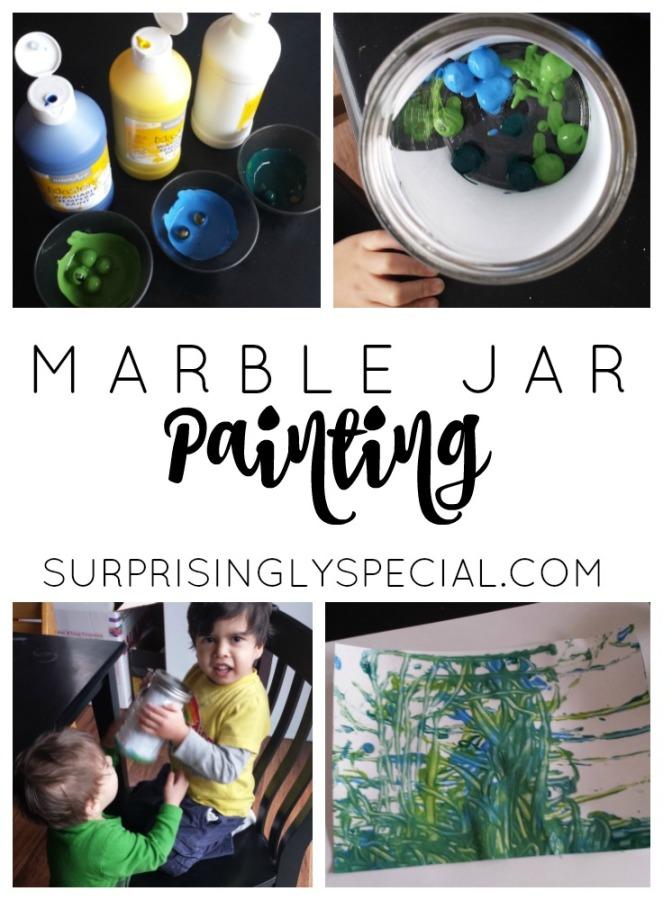 MARBLE JAR PAINTING