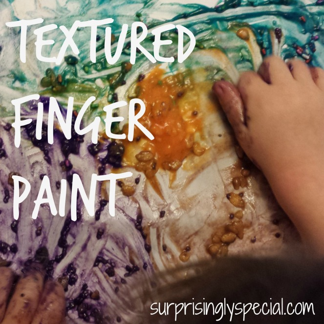 textured finger paint