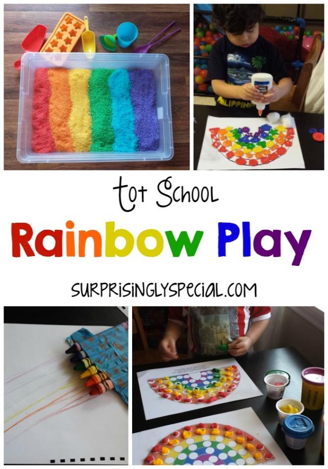 Tot school rainbow play