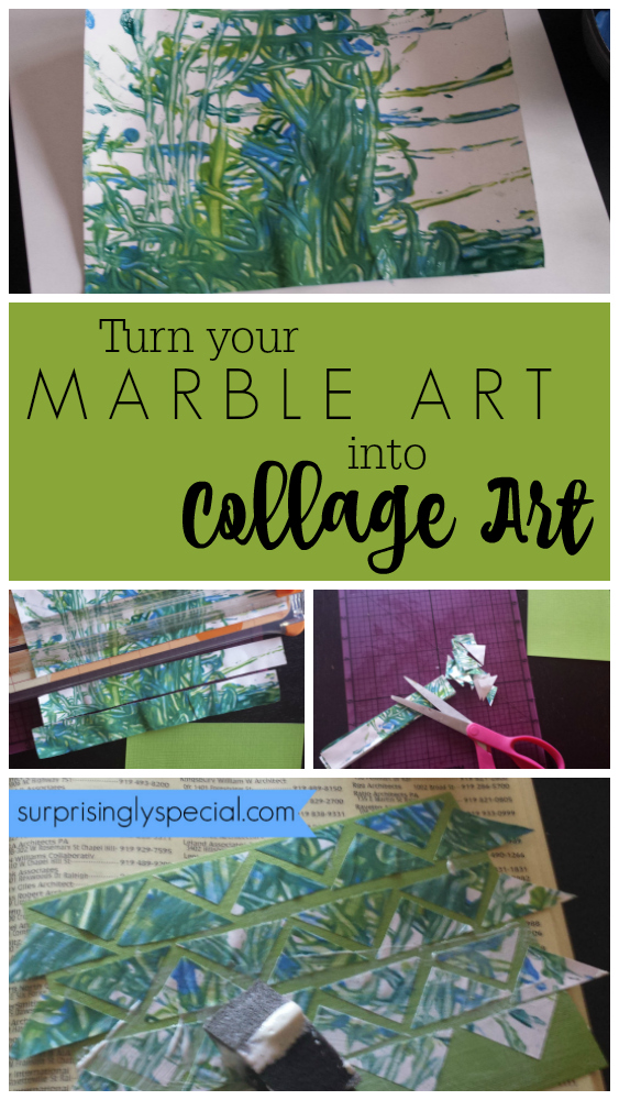 turn marble art into collage