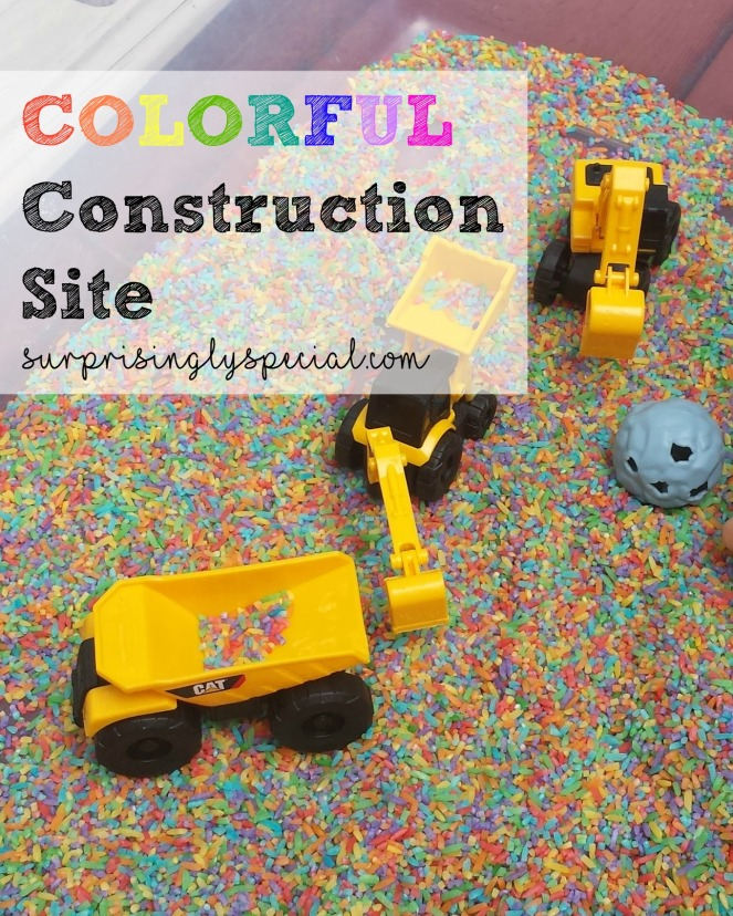 colorful construction site