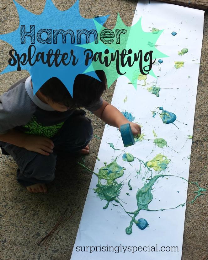 hammer splatter painting