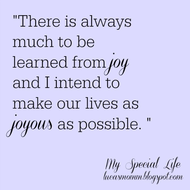 much to be learned from joy
