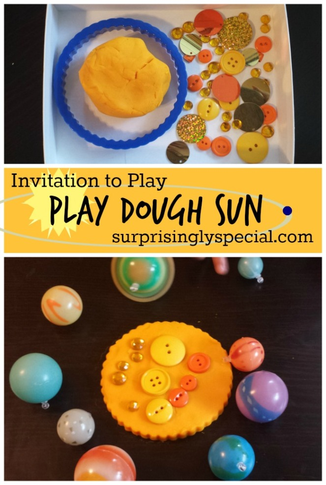 play dough sun